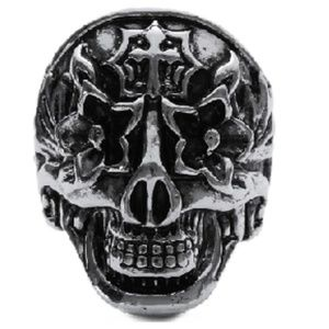 Other - Flower Totem Skull Head Ring Day Of The Dead Punk